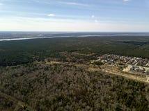 вид с воздуха Лес в городе Новосибирска, Сибирь Стоковые Изображения RF