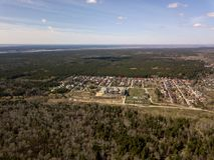 вид с воздуха Лес в городе Новосибирска, Сибирь Стоковое Фото