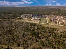 вид с воздуха Лес в городе Новосибирска, Сибирь Стоковая Фотография