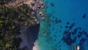 Вид с воздуха лефкас сток-видео