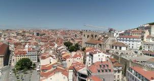 Вид с воздуха Лиссабона сток-видео