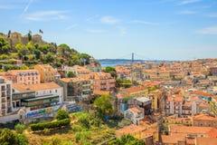 Вид с воздуха Лиссабона стоковые фото