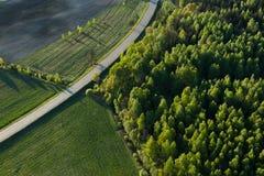Вид с воздуха литовской сельской местности Стоковые Изображения