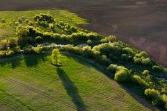 Вид с воздуха литовской сельской местности Стоковая Фотография