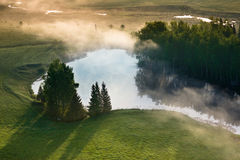 Вид с воздуха литовской сельской местности Стоковые Изображения RF
