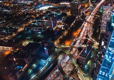 Вид с воздуха Лос-Анджелеса, CA Стоковое Изображение
