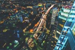 Вид с воздуха Лос-Анджелеса, CA Стоковое Изображение RF