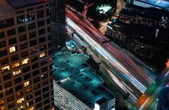Вид с воздуха Лос-Анджелеса, CA Стоковое фото RF