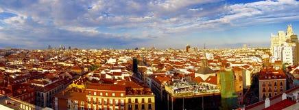 Вид с воздуха Мадрида стоковая фотография