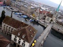Вид с воздуха Марины Цюриха стоковые изображения rf