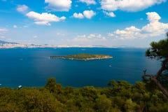 Вид с воздуха матери острова Sedef острова жемчуга стоковые фотографии rf