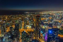 Вид с воздуха Мельбурна вдоль реки Yarra к районам доков Стоковая Фотография RF