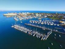 Вид с воздуха Мельбурн CBD Стоковое Изображение RF