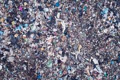 Вид с воздуха места захоронения отходов Стоковое фото RF