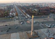 Вид с воздуха Места de Ла конкорда в Париже, Франции стоковое фото rf