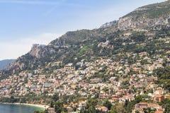 Вид с воздуха Монако стоковое фото rf