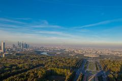 Вид с воздуха Москва, России Стоковое фото RF