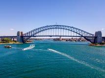 Вид с воздуха моста гавани в Сиднее Стоковая Фотография RF