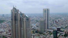 Вид с воздуха над большим городом токио - ТОКИО/ЯПОНИИ - 17-ое июня 2018 акции видеоматериалы