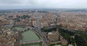 Вид с воздуха над Ватиканом видеоматериал