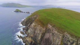 Вид с воздуха над головой Dunmore на полуострове Dingle на западном побережье Ирландии стоковое фото rf