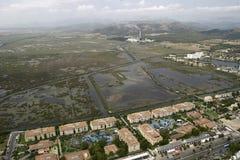 Вид с воздуха над albufera Alcudia в Мальорке Стоковое Изображение RF