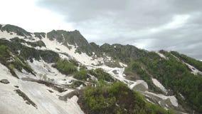 Вид с воздуха наклона лыжи в лето видеоматериал