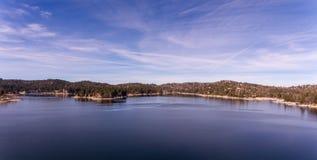 Вид с воздуха наконечника озера, Калифорнии стоковое фото rf