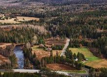 Вид с воздуха наружного Lake Placid стоковые изображения rf