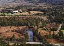 Вид с воздуха наружного Lake Placid стоковые фото