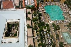 Вид с воздуха на венецианской крыше гостиницы установил плавательный бассеин Стоковое Изображение RF
