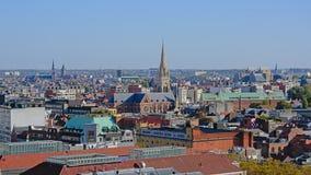 Вид с воздуха на городе Антверпена стоковая фотография rf