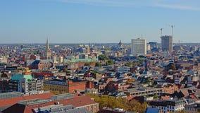 Вид с воздуха на городе Антверпена стоковое изображение rf