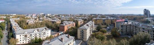 Вид с воздуха на городе Стоковое Фото