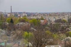 Вид с воздуха на городке Александрии Стоковое Изображение RF