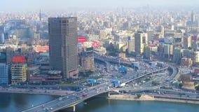 Вид с воздуха на городском районе Каира видеоматериал