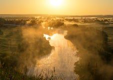 Вид с воздуха на реке Стоковые Изображения RF