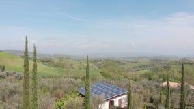 Вид с воздуха на холмы сток-видео