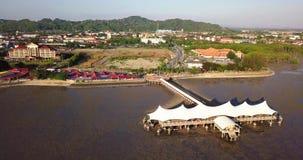 Вид с воздуха на Kuala Perlis Малайзии видеоматериал