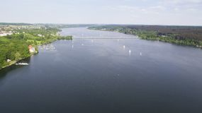Вид с воздуха на Mohnesee Стоковые Фотографии RF