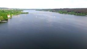 Вид с воздуха на Mohnesee акции видеоматериалы