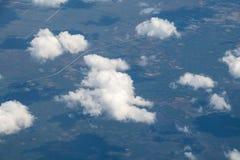 Вид с воздуха облаков и теней стоковые фото