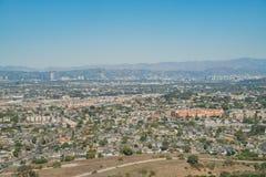 Вид с воздуха области Playa del Rey стоковые фотографии rf