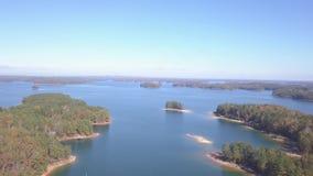 Вид с воздуха озера Lanier Georgia сток-видео