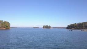 Вид с воздуха озера Lanier Georgia видеоматериал