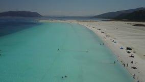 Вид с воздуха озера Salda видеоматериал