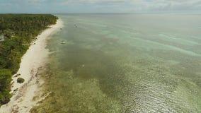 Вид с воздуха острова побережья Bohol дел philippines акции видеоматериалы