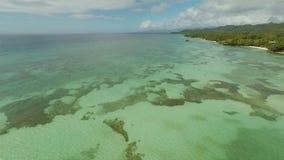 Вид с воздуха острова побережья Bohol дел philippines сток-видео