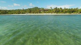 Вид с воздуха острова побережья Bohol дел philippines видеоматериал