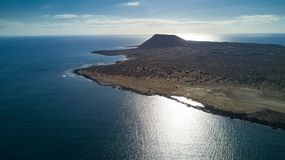 Вид с воздуха острова graciosa стоковые фотографии rf